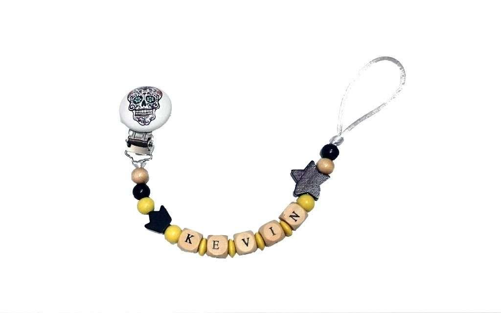 Chupetero personalizado - Catrina Yellow & Black