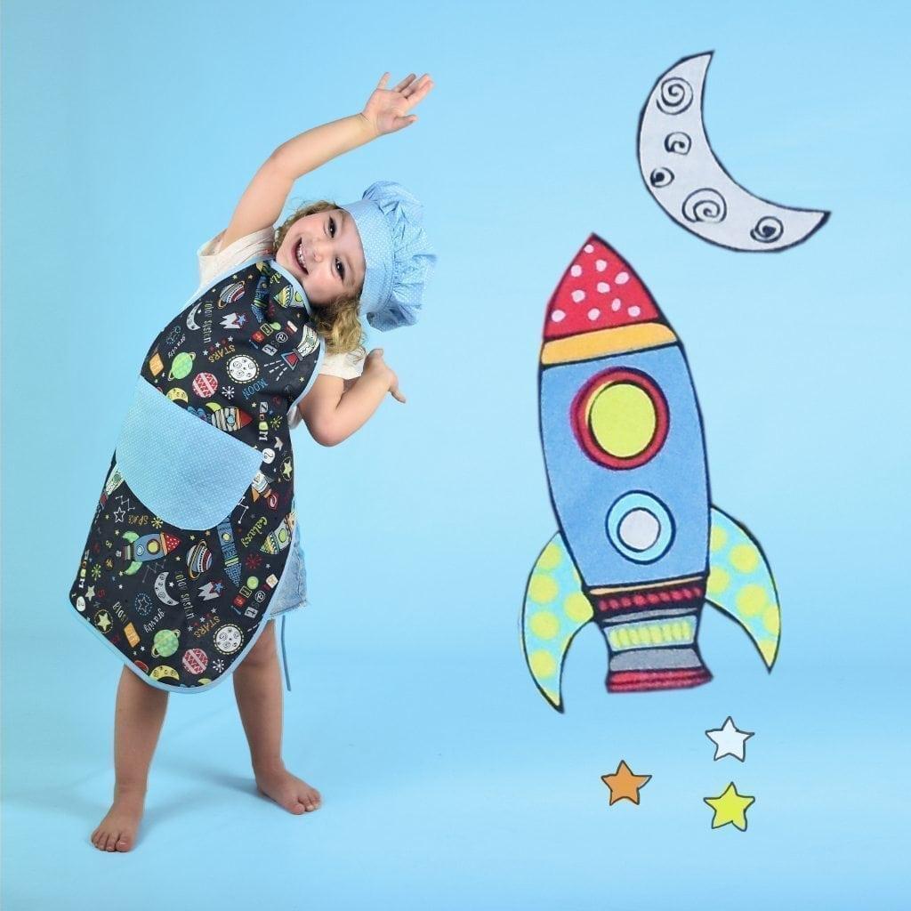 Delantales infantiles - Cohetes