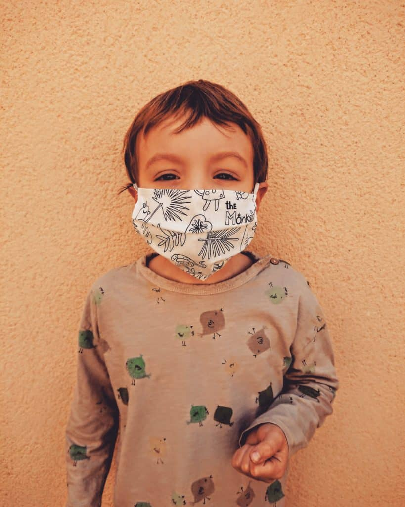 Mascarilla higiénica infantil para pintar 3